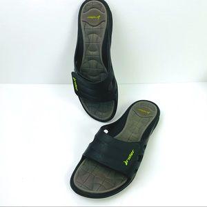 Rider velcro adjustable slides flip flops shoes!